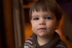 Little boy by window