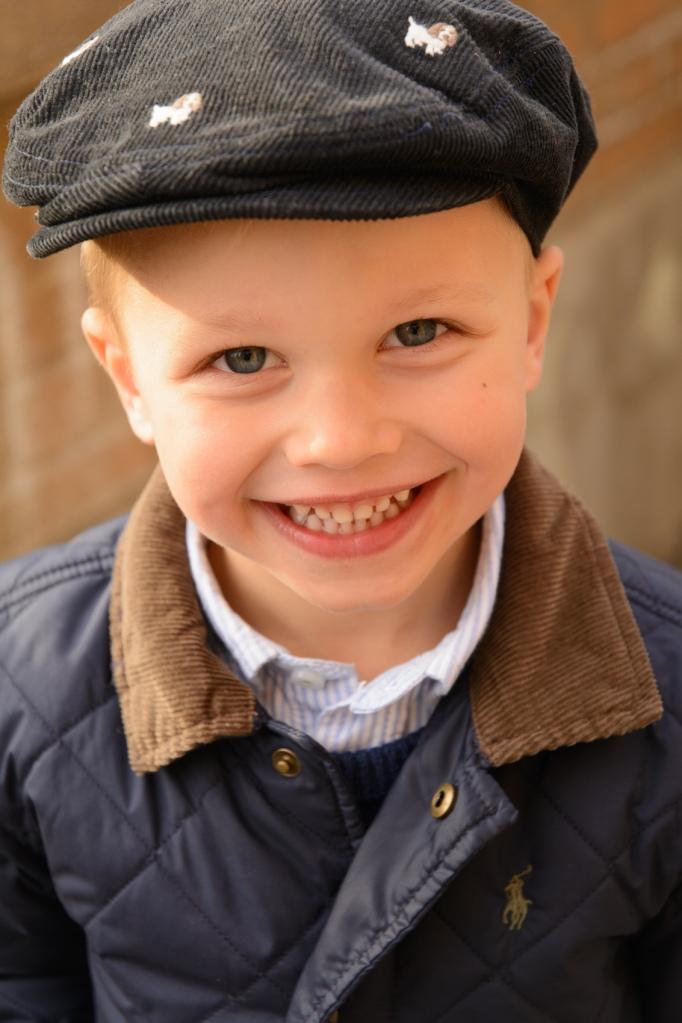 Close up of boy smiling