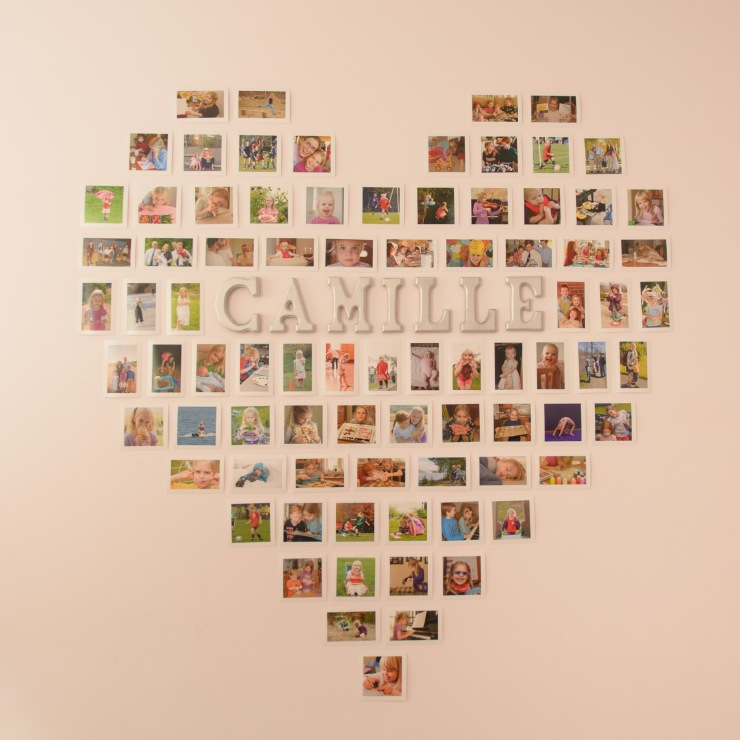 Heart made of individual photos